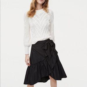 *NWT* Ann Taylor Loft Ruffle Wrap Skirt